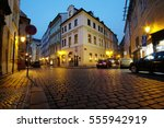 night street in a center of... | Shutterstock . vector #555942919