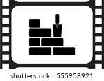 bricks icon vector illustration ...   Shutterstock .eps vector #555958921