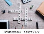 software hardware update and...   Shutterstock . vector #555959479