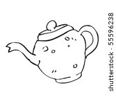 teapot sketch | Shutterstock .eps vector #55596238