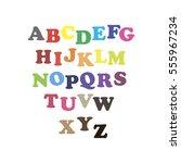 alphabet. white background | Shutterstock .eps vector #555967234