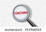 coaching magnifying glass | Shutterstock .eps vector #555968965
