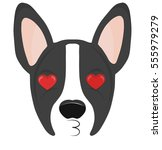 boston terrier dog emoji... | Shutterstock .eps vector #555979279