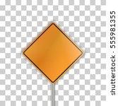 orange road sign | Shutterstock .eps vector #555981355