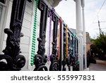 Mardi Gras Beads On An Iron...