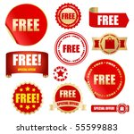 free labels set   vector