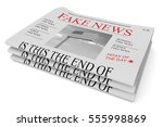 fake news us concept  pile of... | Shutterstock . vector #555998869