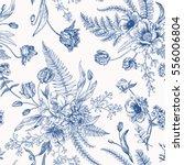 seamless vector vintage pattern ... | Shutterstock .eps vector #556006804