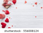 Wooden White Background With...