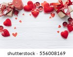 wooden white background with... | Shutterstock . vector #556008169
