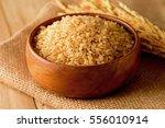japanese brown rice | Shutterstock . vector #556010914