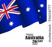 australia day. 26 january.... | Shutterstock .eps vector #556018777