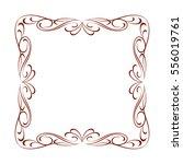 decorative frame .vintage... | Shutterstock .eps vector #556019761
