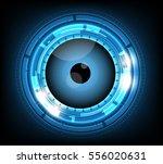 vector blue eyeball cyber...   Shutterstock .eps vector #556020631