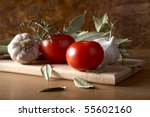 Tomatoes Garlic And Bay Leaf...