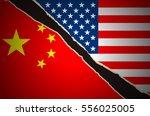 us china flag | Shutterstock .eps vector #556025005