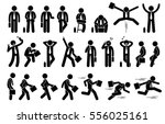 businessman with various poses... | Shutterstock .eps vector #556025161