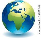 world globe   editable vector... | Shutterstock .eps vector #55602547