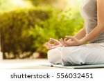 yoga woman  nature  | Shutterstock . vector #556032451