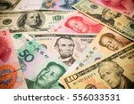 chinese yuan note and u.s.... | Shutterstock . vector #556033531