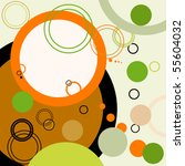 abstract retro background with... | Shutterstock .eps vector #55604032