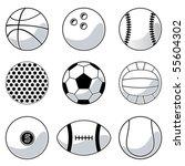 sport balls | Shutterstock .eps vector #55604302