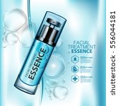 facial treatment essence skin... | Shutterstock .eps vector #556044181