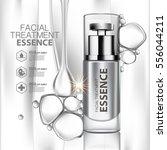 facial treatment essence skin... | Shutterstock .eps vector #556044211