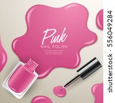 set of color nail polish  ... | Shutterstock .eps vector #556049284