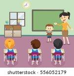illustration of  students boy... | Shutterstock .eps vector #556052179