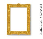 vintage gold picture frame on... | Shutterstock .eps vector #556056541