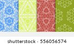 set of seamless floral... | Shutterstock .eps vector #556056574