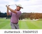 men player golf hit swing shot... | Shutterstock . vector #556069315
