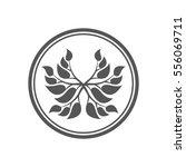 abstract laurel wreath icon.  | Shutterstock .eps vector #556069711