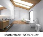 3d Rendering Skylight Wood Roo...