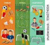soccer banner  football team ... | Shutterstock .eps vector #556074004
