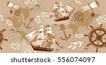 old map seamless pattern.... | Shutterstock .eps vector #556074097