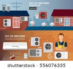 installation of air...   Shutterstock .eps vector #556076335