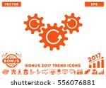 orange transmission wheels... | Shutterstock .eps vector #556076881