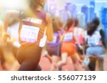 blurred image of women marathon ... | Shutterstock . vector #556077139