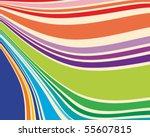 warped stripes in retro colors