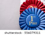 blue and red 1st and 2nd place... | Shutterstock . vector #556079311