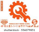 orange service tools icon with...