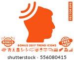 orange radio reception brain... | Shutterstock .eps vector #556080415