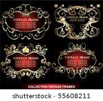 set of golden vintage frame | Shutterstock .eps vector #55608211