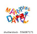 national maritime day card... | Shutterstock .eps vector #556087171