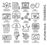 business management icons in... | Shutterstock .eps vector #556088041