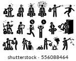 businessman and money... | Shutterstock . vector #556088464