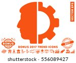orange android head pictograph... | Shutterstock .eps vector #556089427