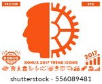orange android head icon with...   Shutterstock .eps vector #556089481